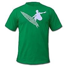 Spreadshirt Men's San Diego California Surf Beaches T-Shirt kelly green M