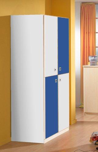 Jugendzimmer Kleiderschrank in alpinweiß – marineblau Schrank Kinderzimmer jetzt kaufen