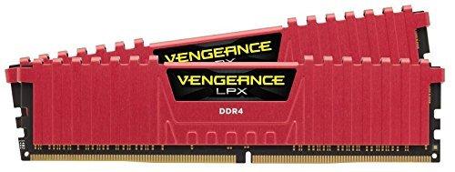 Corsair CMK16GX4M2B3000C15R Vengeance LPX 16GB (2x8GB) DDR4 3000Mhz CL15 Mémoire Pour Ordinateur De Bureau Haute Performance Avec Profil XMP 2.0. Roug...
