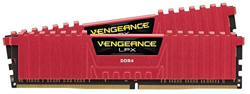 Corsair CMK8GX4M2A2133C13R Vengeance LPX Kit di Memoria da 8 GB, 2x4 GB DDR4, 2133 MHz, CL13 XMP 2.0,  Rosso