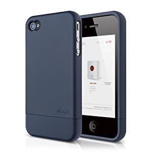 elago S4 Glide Case for AT&T, Sprint and Verizon iPhone 4/4S - eco friendly packaging (Jean Indigo+Champagne Gold)