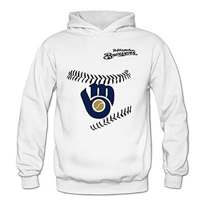 Women's Milwaukee Brewers MLB Geek Hoodies Sweatshirt Size US White