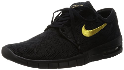low priced db5da 06abc pictures of Nike SB Stefan Janoski Max QS Black   Mettalic Gold   Black  Skate Shoes