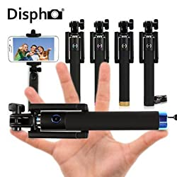 Most Upgraded Foldable Pocket Sized, Black Rubberized Finish, Bluetooth Selfie Stick Monopod for all Smartphones.