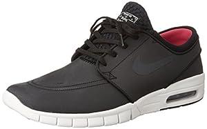 Nike Stefan Janoski Max L, Zapatillas de Skateboarding Para Hombre, Negro / Blanco / Rosa (Blk / Anthrct-Smmt Wht-Hypr Pnk), 42 1/2 EU