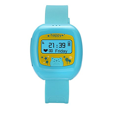 Light Blue Smallest Dual GPS GSM Position GPRS Tracker Watch MIC SOS For Child / Old GSM 850/900/1800/1900MHz Chinese + English or other foreign language