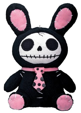 Black Bun-Bun Furry Bones Small Plush (H: 6.25