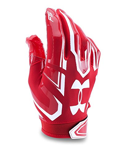 Under Armour Boys' F5 Football Gloves, Red (600), Youth Large