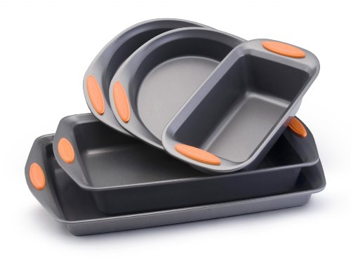 Rachael Ray Oven Lovin' Non-Stick 5-Piece Bakeware Set, Oran