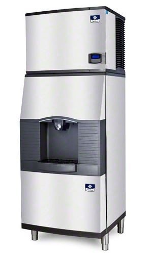 Manitowoc Iy-0454A-Spa-310 450 Lb Air-Cooled Half Cube Ice Machine W/ Spa-310 Hotel Dispenser front-587532