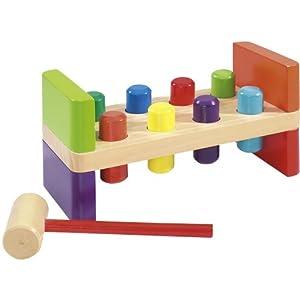 eichhorn holzspielzeug hammerbank mit 8 gummiring stiften. Black Bedroom Furniture Sets. Home Design Ideas