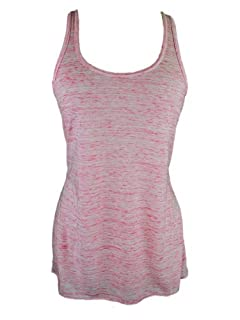 YogaColors Womens Emoticon Flowy Scoop Neck Tank Top (Large, Speckled Red)