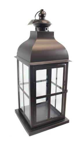 Brown Square Metal Lantern