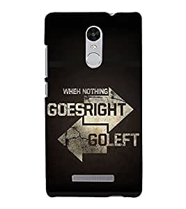 Right and Wrong Quote 3D Hard Polycarbonate Designer Back Case Cover for Xiaomi Redmi Note 3 :: Xiaomi Redmi Note 3 (3rd Gen)