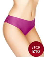 No VPL Low Rise Lace Brazilian Knickers