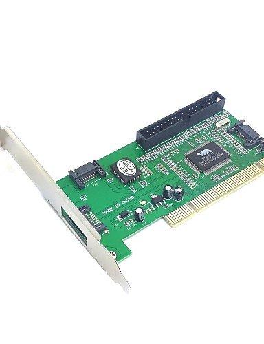 HuaXing USB-Datenkabel 3-Port SATA-&ide PCI-Controller RAID-Kartenadapter via6421 Chipsatz für Festplattenlaufwerk&Server