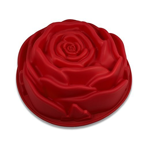 Sorbus Silicone Rose-Shaped Bunt Mold (Rose Bundt Pan compare prices)