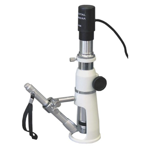 Amscope H100-E Digital Handheld Stand Measuring Microscope, 100X Magnification, 17Mm Field Of View, Includes Pen Light, 0.3Mp Camera, And Software