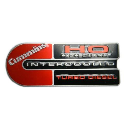 Dodge Ram Cummins (Big C) Ho Turbo Diesel Engine Emblems Badge Red/black