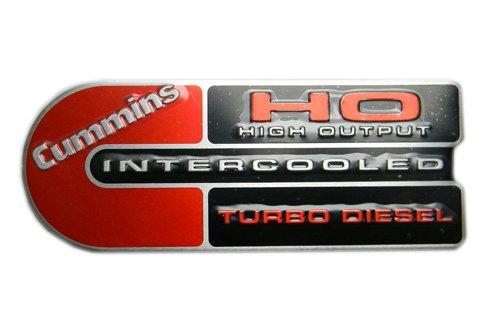 Dodge Ram Cummins (Big C) Ho Turbo Diesel Engine Emblems Badge Red/black (Cummins Turbo Diesel Engine compare prices)