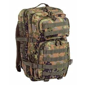 Tactical Rucksack Airsoft US Assault Pack 50L Flecktarn Camo from Mil-Tec