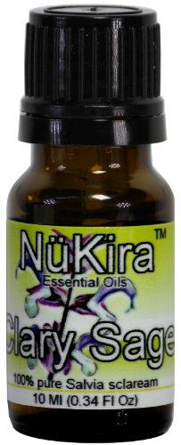 Clary Sage Essential Oil (Salvia sclarea) Therapeutic Grade By NuKira (10 ml)