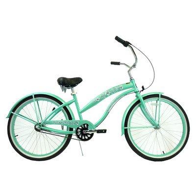 Women's 3-Speed Premium Beach Cruiser Frame Color: Mint Green
