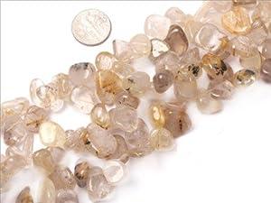 12--14mm freedom yellow Rutilated Quartz beads strand 15