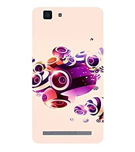 PRINTVISA Abstract Music Art Case Cover for VIVO X5 MAX