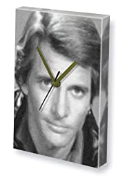 DIRK BENEDICT - Canvas Clock (LARGE A3 - Signed by the Artist) #js003