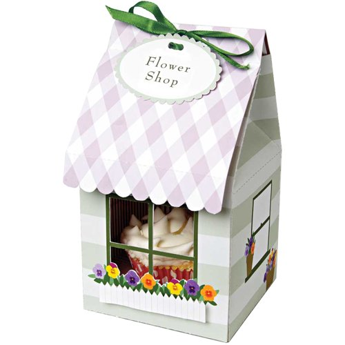 Meri Meri Cupcake Box Flower Shop, Small 4-Pack