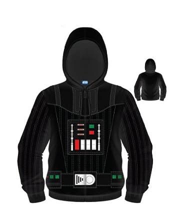 Star Wars I B Darth Vader Men's Hoodie Sweatshirt (Black, Large)