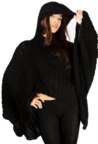 Purple / Plum Small Hoodie Poncho & Stretch Knit Yoga Tights By Kd Dance New York Sexy Chic & Unique Made In Usa