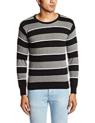People Men's Cotton Sweater (8903880689971_P10101188002100_Large_Black)