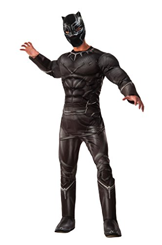 Men's Captain America: Civil War Deluxe Muscle Chest Black Panther Costume