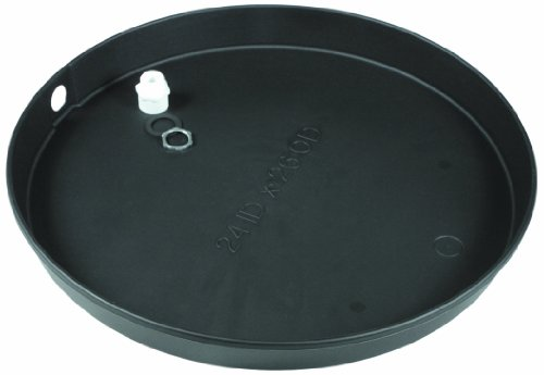 """Camco 11266 20""""Id X 2"""" Plastic Drain Pan With Cpvc Fitting"""