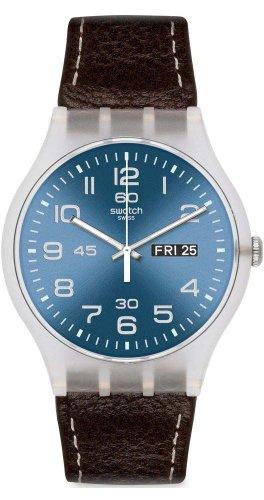 swatch-unisex-armbanduhr-classic-analog-quarz-leder-suok701