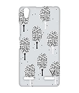 Vogueshell Black And White Tree Pattern Printed Symmetry PRO Series Hard Back Case for Lenovo A6000