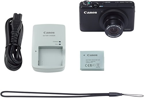 Canon PowerShot S200 - Digital camera - compact - 10.1 Mpix - 5 x optical zoom - Wi-Fi - black dc v100 15mp cmos digital camera w 5x optical zoom 4x digital zoom sd slot pink 2 7 tft