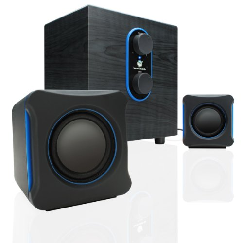 GOgroove SonaVERSE LBr 2.1 USB Speaker System with Bass Subwoofer and Dual Stereo Satellite Speakers for Computers...