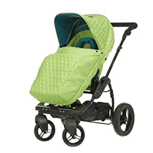 Obaby Zezu Pramette Stroller and Changing Bag (Lime Quilt)