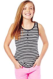 Pure Cotton Striped Vest Top