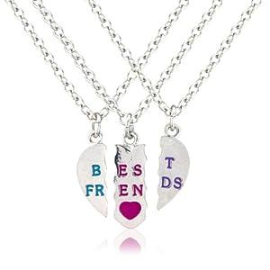 Amazon.com: 3 Part bestfriends necklace, perfect for your 3 best pals