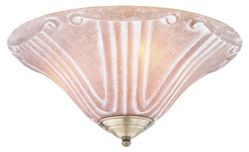 Craftmade Fans LKE40-E12 Renaissance 3-Light Ceiling Fan Light Kit, Old World Roman Curl Glass