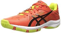 ASICS GEL-Solution Speed 3 GS Tennis Shoe, Orange/Black/Lime, 2.5 M US Little Kid