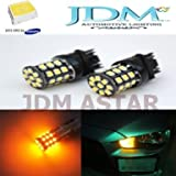 JDM ASTAR 800 Lumens Bright AX-2835 Chipsets 3056 3156 3156 3157 LED Bulbs for Turn Signal,Amber Yellow