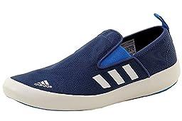 adidas Outdoor Men\'s B Slip-On DLX Water Shoe, Mineral Blue/White/Solar Blue, 12 M US