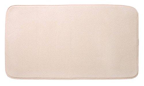 Envision Home Dish Drying Mat - 18 × 32 - Cream (Jumbo)