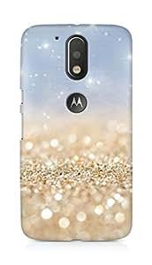 Amez designer printed 3d premium high quality back case cover forMotorola Moto G4 (gold sparkles)