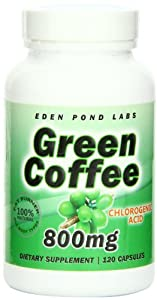 Green Coffee Bean Extract 800mg, Double Strength Fat Burner, 120 Capsules, Natural Weight Loss Pills , 50% Chlorogenic Acid, Pure Green Coffee Bean Extract 800mg Per Serving, 40 Day Supply